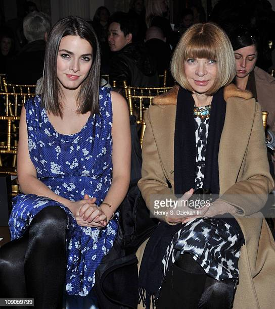 Bee Shaffer and American Vogue EditorinChief Anna Wintour attend the Thakoon Fall 2011 fashion show during MercedesBenz Fashion Week in the Grand...