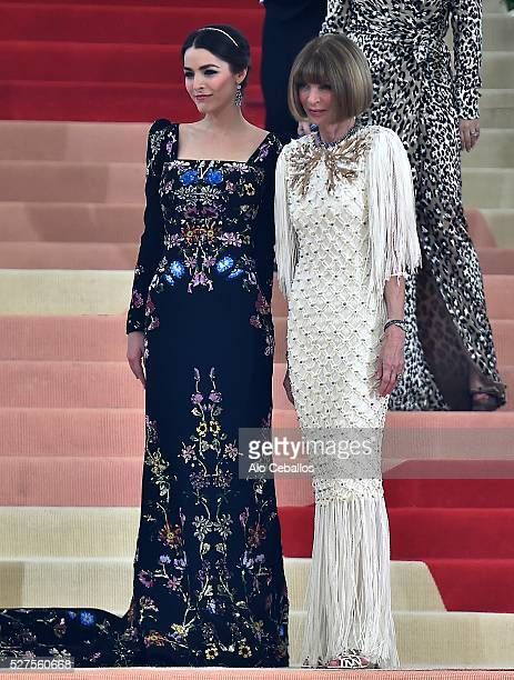 Bee Shaffer and Anna Wintour are seen on May 2 2016 in New York City