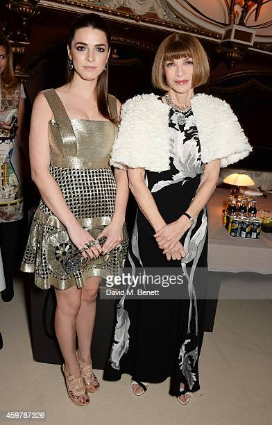 Bee Shaffer and Anna Wintour attend a drinks reception at the British Fashion Awards at the London Coliseum on December 1 2014 in London England