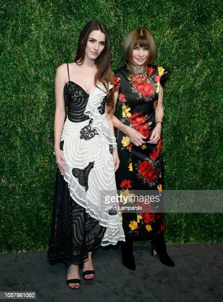 Bee Shaffer and Anna Wintour attend CFDA / Vogue Fashion Fund 15th Anniversary Event at Brooklyn Navy Yard on November 5 2018 in Brooklyn New York