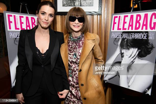 Bee Shaffer and Anna Wintour attend 'Fleabag' opening night party at Bistrot Leo on March 7 2019 in New York City