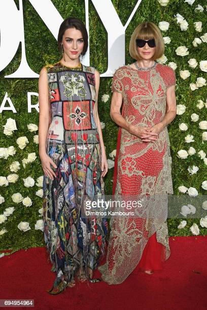 Bee Shaffer and Anna Wintour attend the 2017 Tony Awards at Radio City Music Hall on June 11 2017 in New York City