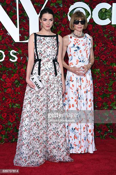 Bee Shaffer and Anna Wintour attend the 70th Annual Tony Awards at The Beacon Theatre on June 12 2016 in New York City