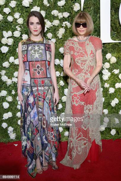 Bee Shaffer and Anna Wintour attend the 71st Annual Tony Awards at Radio City Music Hall on June 11 2017 in New York City