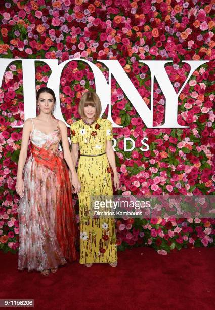 Bee Shaffer and Anna Wintour attend the 72nd Annual Tony Awards at Radio City Music Hall on June 10 2018 in New York City