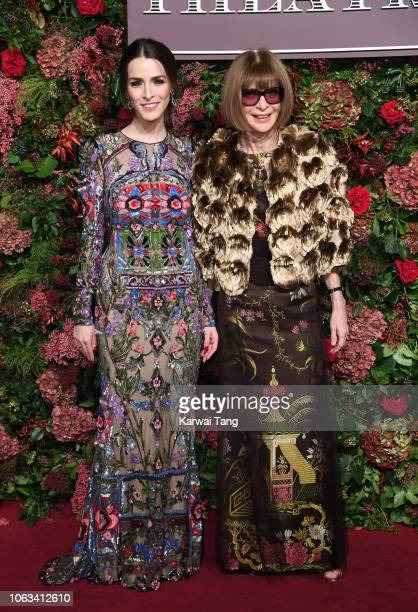 Bee Shaffer and Anna Wintour attend the Evening Standard Theatre Awards 2018 at Theatre Royal Drury Lane on November 18 2018 in London England