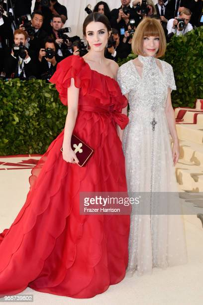 Bee Shaffer and Anna Wintour attend the Heavenly Bodies Fashion The Catholic Imagination Costume Institute Gala at The Metropolitan Museum of Art on...