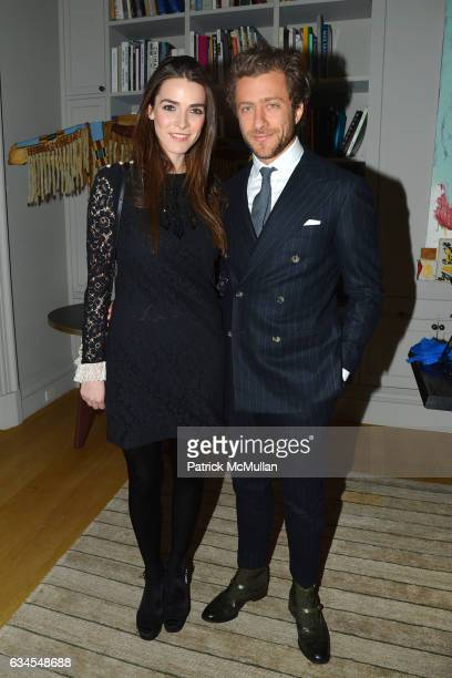 Bee Shaffer and Francesco Carrozzini attend Ermenegildo Zegna 'Defining Moments' Campaign Dinner at Private Gallery on February 9 2017 in New York