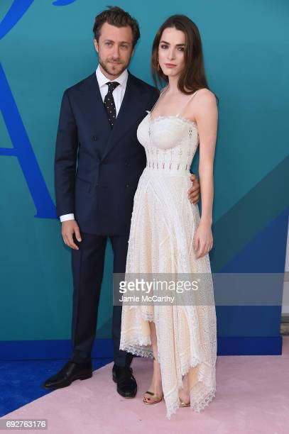 Bee Shaffer and Francesco Carrozzini attend the 2017 CFDA Fashion Awards at Hammerstein Ballroom on June 5 2017 in New York City