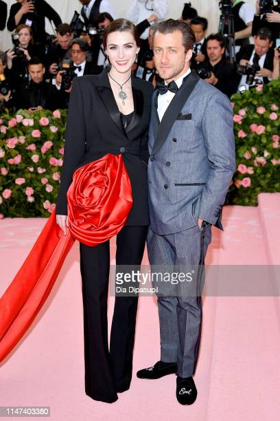 Bee Shaffer and Francesco Carrozzini attends The 2019 Met Gala Celebrating Camp: Notes on Fashion at Metropolitan Museum of Art on May 06, 2019 in...