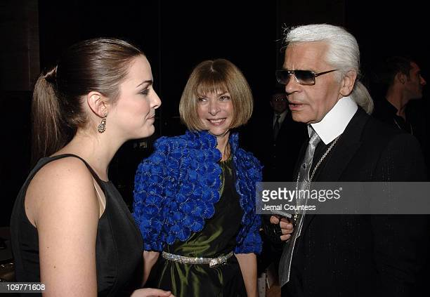 Bee Shaffer Anna Wintour and Karl Lagerfeld during Fendi New York City Flagship Store Opening Inside at Fendi Flagship Store in New York City New...