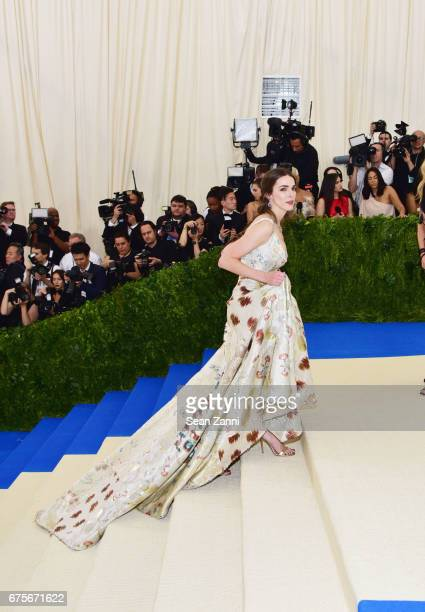 Bee Shaffer arrives at Rei Kawakubo/Comme des Garcons Art Of The InBetween Costume Institute Gala at The Metropolitan Museum on May 1 2017 in New...