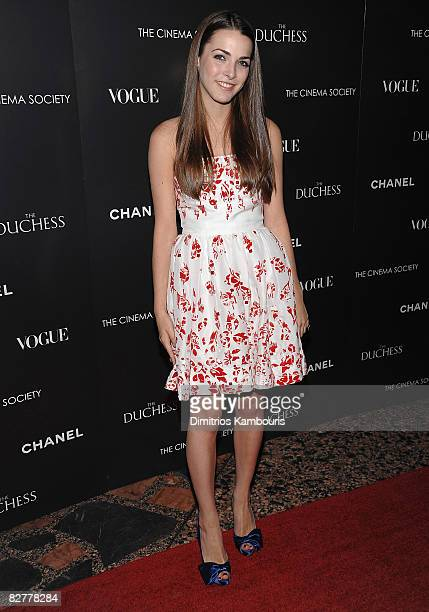 Bee Shaffer attends the Cinema Society with Chanel and Vogue's screening of The Duchess at the Public Theater on September 10 2008 in New York City