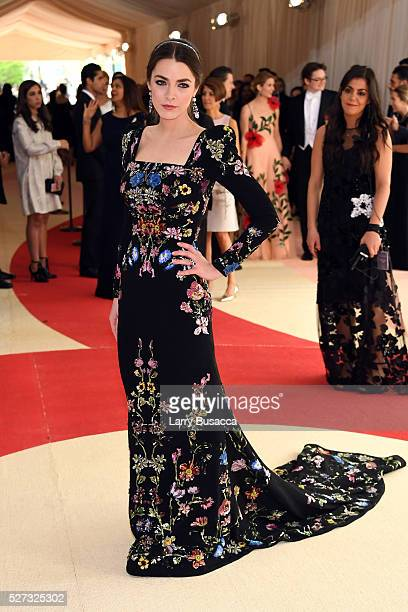 """Bee Shaffer attends the """"Manus x Machina: Fashion In An Age Of Technology"""" Costume Institute Gala at Metropolitan Museum of Art on May 2, 2016 in New..."""