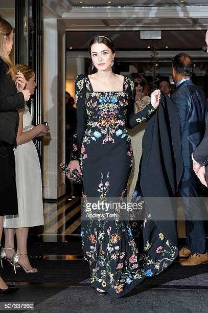 Bee Shaffer leaves from The Mark Hotel for the 2016 'Manus x Machina Fashion in an Age of Technology' Met Gala on May 2 2016 in New York City