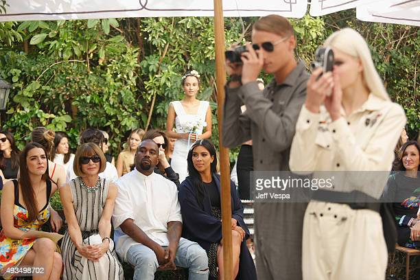 Bee Shaffer Vogue Editor in Chief Anna Wintour recording artist Kanye West and TV personality Kim Kardashian attend CFDA/Vogue Fashion Fund Show and...
