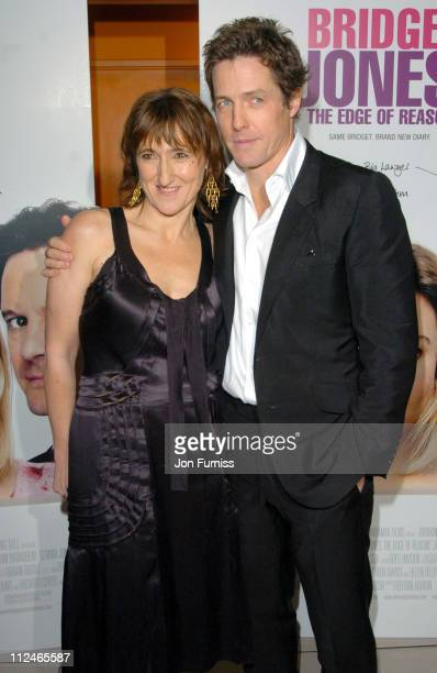 Beeban Kidron and Hugh Grant during Bridget Jones The Edge of Reason London Premiere Inside Arrivals at Odeon Leicester Square in London Great Britain