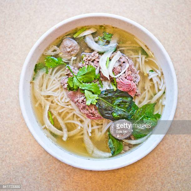 Beef and Beef Ball Pho Noodle Soup