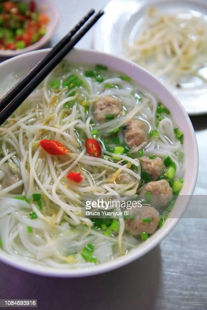 beef ball pho - pho soup stock pictures, royalty-free photos & images