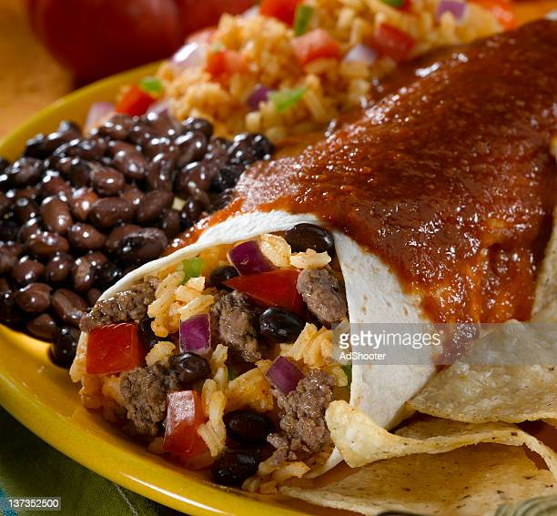 beef burrito - burrito stock pictures, royalty-free photos & images