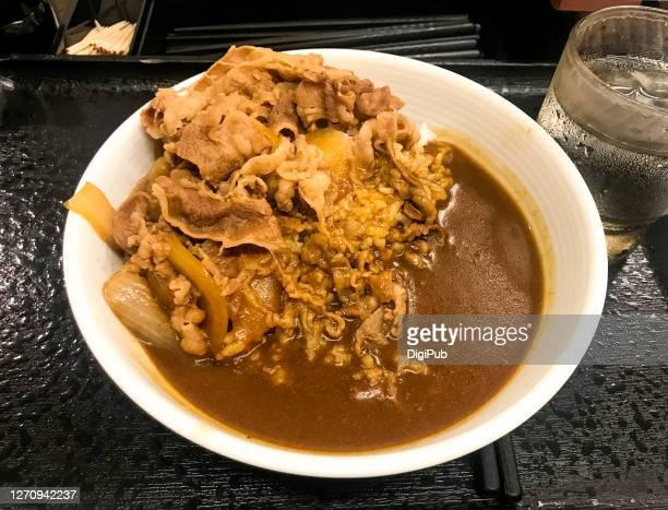 beef, curry and rice - yōshoku imagens e fotografias de stock