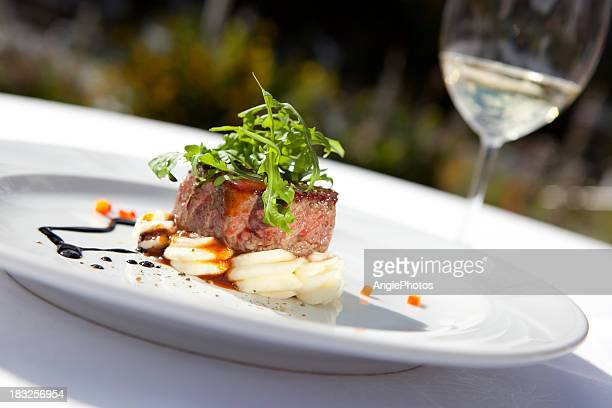 beef fillet - fine dining stock pictures, royalty-free photos & images