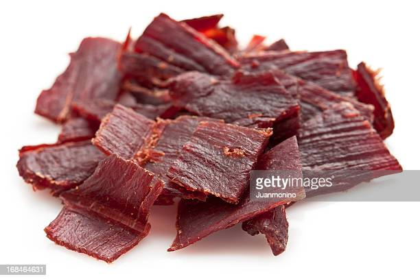 beef jerky - beef stock pictures, royalty-free photos & images