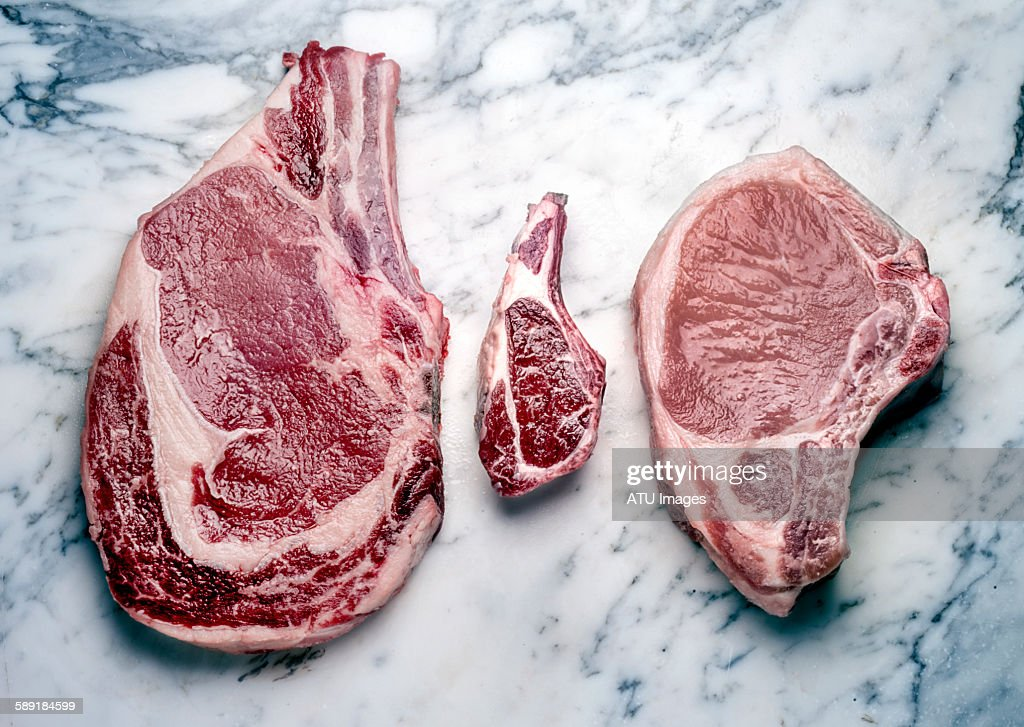 Beef lamb pork raw : Stock Photo