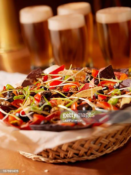 Beef Nachos with Beers