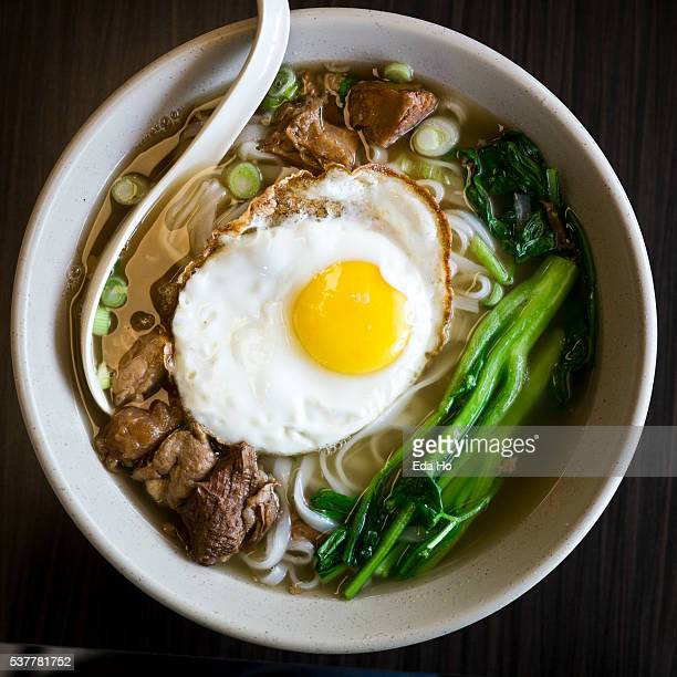 Beef Noodle Soup with Fried Egg
