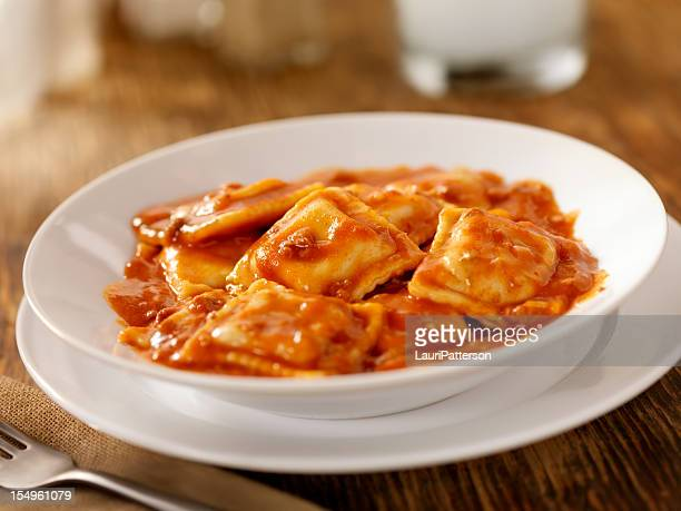 Beef Ravioli In a Tomato Meat Sauce