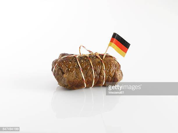 Beef roulade with German flag