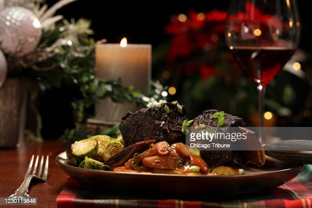 Beef short ribs Christmas dinner, prepared and styled by Shannon Kinsella, in the test kitchen, on Tuesday Nov. 24, 2020. Beef short ribs feel as...