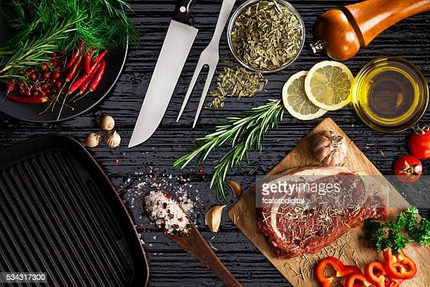 beef steak fillet - cooking utensil stock photos and pictures