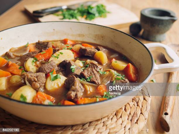 beef stew - stew pot stock pictures, royalty-free photos & images