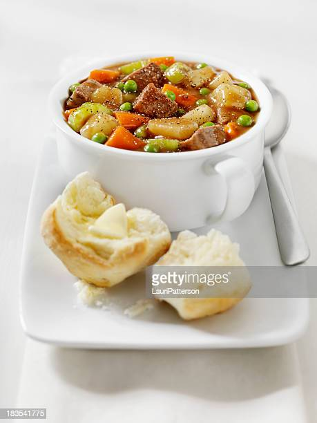 Beef Stew with Freshly Baked Biscuits