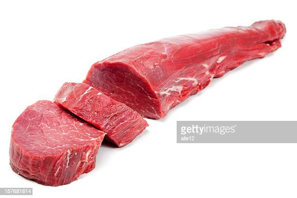 beef tenderloin steaks - raw food stock pictures, royalty-free photos & images