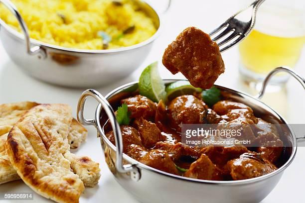 beef vindaloo (meat dish from india, reunion, mauritius) - islas mauricio fotografías e imágenes de stock