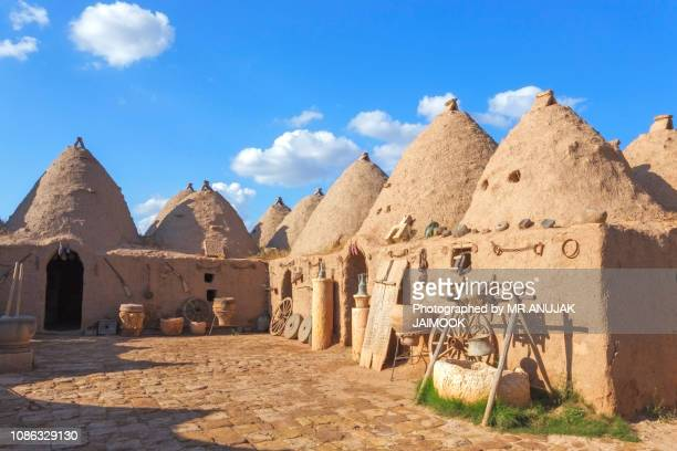 beehive house at harran, turkey - şanlıurfa stock pictures, royalty-free photos & images