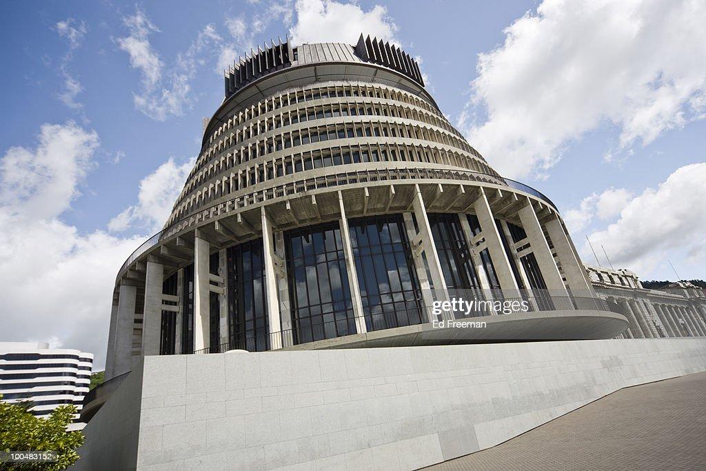 Beehive, Wellington New Zealand : Stock Photo