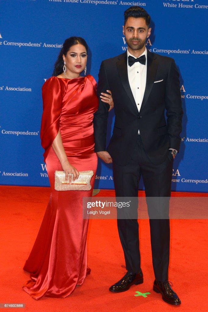 Beena Minhaj (L) and host, comedian Hasan Minha attends the 2017 White House Correspondents' Association Dinner at Washington Hilton on April 29, 2017 in Washington, DC.