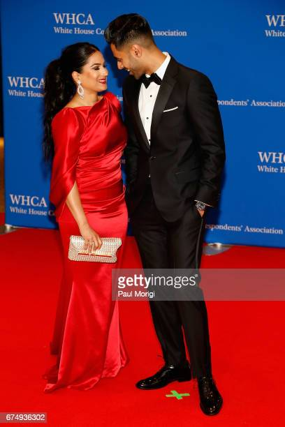 Beena Minhaj and host, comedian Hasan Minha attends the 2017 White House Correspondents' Association Dinner at Washington Hilton on April 29, 2017 in...