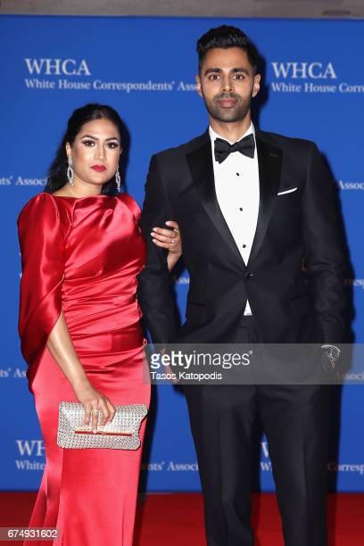 Beena Minhaj and host comedian Hasan Minhaj attend 2017 White House Correspondents' Association Dinner at Washington Hilton on April 29 2017 in...