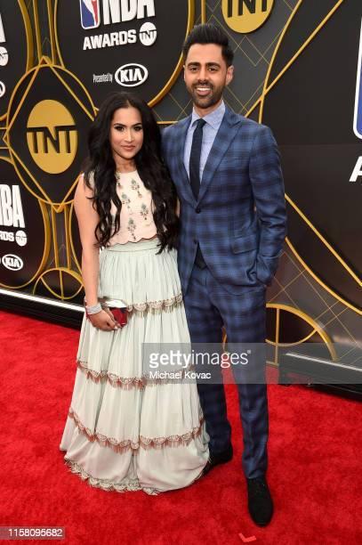 Beena Patel and Hasan Minhaj attend the 2019 NBA Awards presented by Kia on TNT at Barker Hangar on June 24 2019 in Santa Monica California