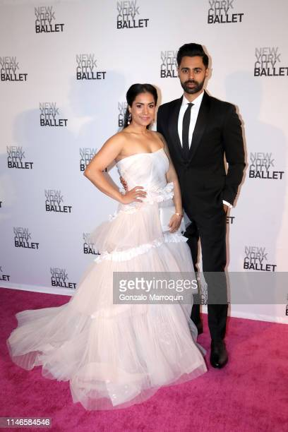 Beena Patel and Hasan Minhaj attend the New York City Ballet 2019 Spring Gala at David H. Koch Theater at Lincoln Center on May 02, 2019 in New York...
