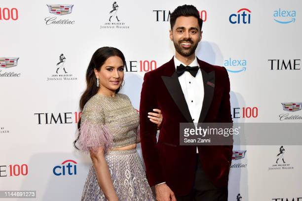 Beena Patel and Hasan Minhaj attend the Time 100 Gala 2019 at Jazz at Lincoln Center on April 23 2019 in New York City