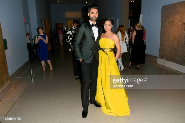 Beena Patel and Hasan Minhaj attends the CFDA Fashion Awards at the Brooklyn Museum of Art on June 03, 2019 in New York City.