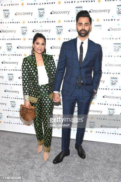 Beena Patel Minhaj and Hasan Minhaj attend the NRDC's 'Night of Comedy' benefit at New York Historical Society on April 30 2019 in New York City