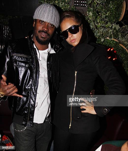 Beenie Man and Alicia Keys attend Alicia Keys' The Element of Freedom album release party at Greenhouse on December 16 2009 in New York City