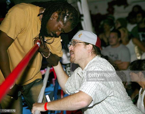 Beenie Man and Bobby Konders of Massive B during The Fader Presents King Clash Featuring Beenie Man And Tego Calderon at Volume in Brooklyn New York...